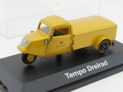 Schuco 03909S Tempo Dreirad Deutsche Bundespost DBP 1:43 TOP OVP
