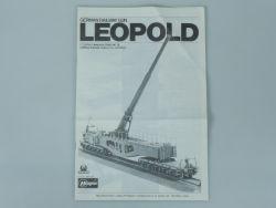 Hasegawa MB-028 Geschütz Leopold nur Bauanleitung für Kit