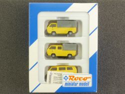 Roco 1553 Set 3x VW T3 Deutsche Post Transporter Bus NEU! OVP