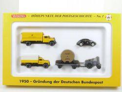 Wiking 81-08 PMS Gründung der Bundespost 1950 VW Käfer NEU! OVP