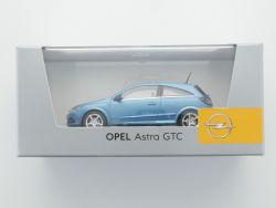 Minichamps Opel Astra H GTC Modellauto blau metallic TOP! OVP