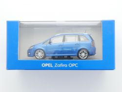 Minichamps Opel Zafira B OPC Werbemodell blau metallic 1:43 OVP