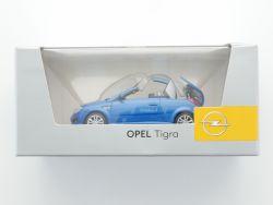Minichamps Opel Tigra Werbemodell blau metallic 1:43 TOP! OVP