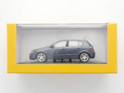Minichamps Opel Astra H  Werbemodell blau grau 1:43 TOP! OVP