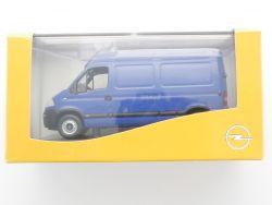 Norev Opel Movano Transporter Werbemodell blau 1:43 TOP! OVP SG