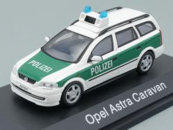 Schuco Opel Astra Caravan Polizei Deutsch Modellauto 1:43 TOP OVP