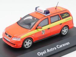 Schuco 04377 Opel Astra Caravan FFW Feuerwehr Baiersdorf TOP! OVP