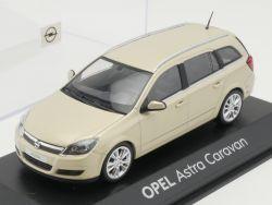 Minichamps Opel Astra H Caravan Werbemodell Beige 1:43 TOP! OVP