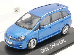 Minichamps Opel Zafira B OPC blau Werbemodell 1:43 TOP! OVP