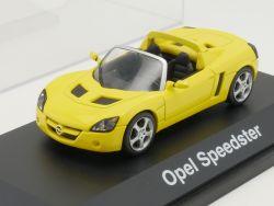 Schuco Opel Speedster Roadster Werbemodell gelb 1:43 TOP! OVP