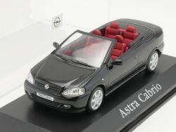 Minichamps Opel Astra G Cabrio Werbemodell schwarz 1:43 TOP! OVP