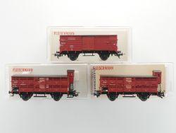Schnäppchen! Fleischmann 5356 5350 Konvolut 3x Güterwagen H0 OVP