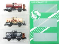 Sachsenmodelle 14101 Kesselwagen-Set Reichsbahn Ep.II KKK NEU! OVP