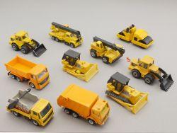 Matchbox Majorette et al. Konvolut 10x Baufahrzeuge und LKW