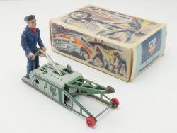 Arnold 1100 Wagenheber Uhrwerk Tankstelle Figur Originalkarton OVP