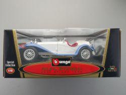 Bburago 3008 Burago Alfa Romeo 2300 Spider weiß blau NEU! OVP