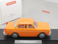 Wiking 7630140 VW 1600 Volkswagen Limousine orange 1:40 NEU OVP