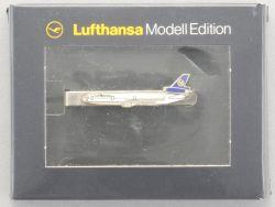 Lufthansa ModellEdition Krawattenklammer DC10-30 Flugzeug rar OVP