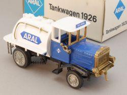 Ziss Werbemodell Henschel Aral Tankwagen 1926 Werbe-Karton! OVP