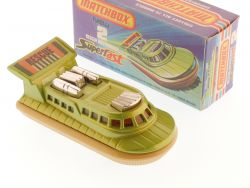 Matchbox 2 F Superfast Rescue Hovercraft green met. MIB Box OVP