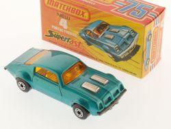 Matchbox 4 F Superfast Pontiac Firebird light blue MIB Box OVP