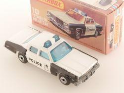 Matchbox 10F Superfast Plymouth Gran Fury Police perfekte Box OVP