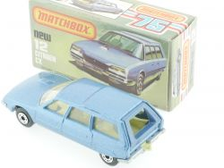 Matchbox 12 F Superfast Citroën CX light blue met. MIB Box OVP