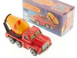 Matchbox 19 F Superfast Cement Truck red stripes LKW MIB Box OVP