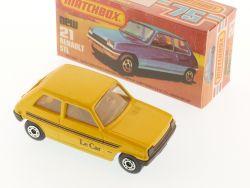 Matchbox 21 F Superfast Renault 5 TL Le Car Gelb MIB Box OVP