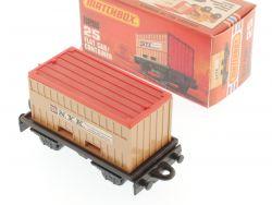 Matchbox 25 F Superfast Flat Car Container Tragwagen MIB Box OVP