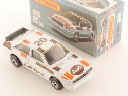 Matchbox 25 G Superfast Audi Quattro grey B.MIB perfekte Box OVP