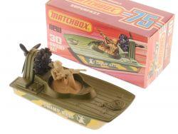 Matchbox 30 E Superfast Swamp Rat Militärboot Soldat MIB Box OVP