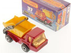 Matchbox 37 E Superfast Skip Truck Container LKW rot MIB Box OVP