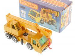 Matchbox 49 D Superfast Crane Truck Autokran gelb MIB Box OVP