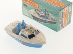 Matchbox 52 D Superfast Police Launch Polizeiboot MIB Box OVP