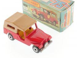 Matchbox 53 E Superfast CJ-6 Jeep red body pre 1980 MIB Box OVP