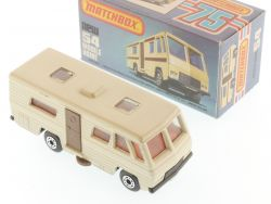Matchbox 54E Superfast Mobile Home Caravan grey base MIB Box OVP