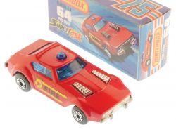 Matchbox 64 D Superfast Fire Chief Car labels MIB Box OVP