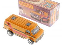 Matchbox 68 E Superfast Chevy Van Streifen rot/schwarz MIB OVP
