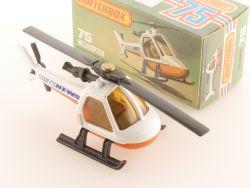 Matchbox 75 E Superfast Helicopter MBTV News MIB perfekte Box OVP