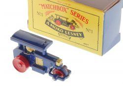 Matchbox 1 A Diesel Road Roller blau Recreation Diecast 1988 OVP