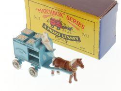 Matchbox 7 A Horse Drawn Milk Float Recreation Diecast TOP! OVP