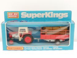 Matchbox K-35 Super Kings Massey Ferguson Tractor Trailer  OVP