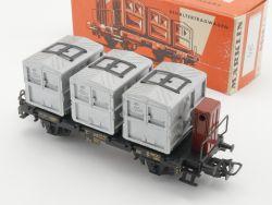 Märklin 4614 Behältertragwagen Von Haus zu Haus DB von 1958! OVP