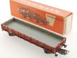 Märklin 4606 Niederbordwagen graue Ladefläche TOP! 1956 Karton OVP
