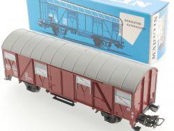 Märklin 4627 Ged. Güterwagen 1972 dunkelblauer Karton TOP! OVP