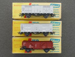 Liliput Konvolut 3x Güterwagen 237 FS Italia und 211 Ommv DB OVP