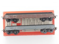 VB 647 France Konvolut 2x Niederbordwagen Metall-Guss selten