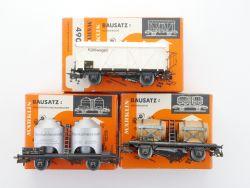 Märklin Konvolut 3x Güterwagen 4911 u.a. DB ex Bausatz 4511 OVP