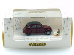 Wiking 7980334 Citroen 2 CV Ente Weihnachts-Modell 1999 1:87 OVP